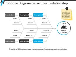 Fishbone Diagram Cause Effect Relationship Presentation Pictures
