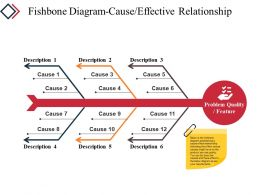Fishbone Diagram Cause Effective Relationship Powerpoint Slide Backgrounds