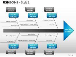 Fishbone Style 1 Powerpoint Presentation Slides