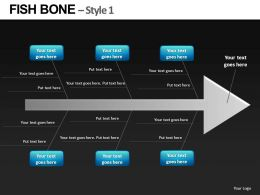 Fishbone Style 1 Powerpoint Presentation Slides db