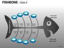 Fishbone Style 2 Powerpoint Presentation Slides db