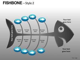 Fishbone Style 2 Powerpoint Presentation Slides db
