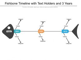 Fishbone Timeline With Text Holders And 3 Years