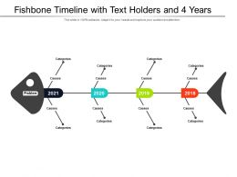 Fishbone Timeline With Text Holders And 4 Years