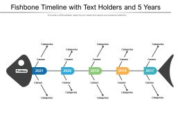 Fishbone Timeline With Text Holders And 5 Years