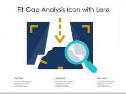 Fit Gap Analysis Icon With Lens