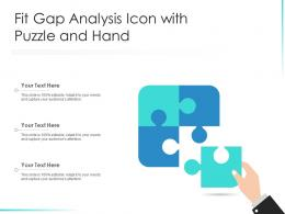 Fit Gap Analysis Icon With Puzzle And Hand