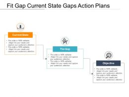 Fit Gap Current State Gaps Action Plans