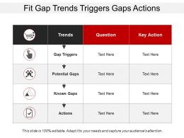 Fit Gap Trends Triggers Gaps Actions