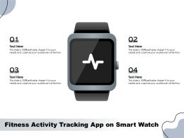 Fitness Activity Tracking App On Smart Watch