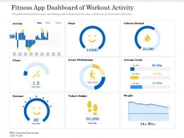 Fitness App Dashboard Of Workout Activity