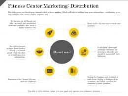 Fitness Center Marketing Distribution Ppt Powerpoint Presentation Slides Portrait