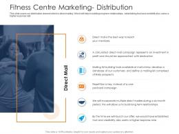 Fitness Centre Marketing Distribution Health And Fitness Clubs Industry Ppt Template