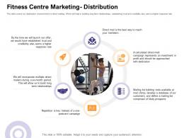 Fitness Centre Marketing Distribution How Enter Health Fitness Club Market Ppt Summary Graphics Example