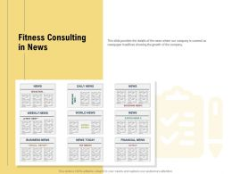 Fitness Consulting In News Daily Ppt Powerpoint Presentation Icon Sample