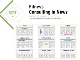 Fitness Consulting In News Growth Ppt Powerpoint Presentation Tips