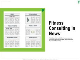 Fitness Consulting In News M1606 Ppt Powerpoint Presentation Infographics Inspiration