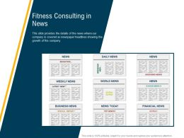 Fitness Consulting In News M3109 Ppt Powerpoint Presentation File Template
