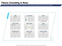 Fitness Consulting In News Newspaper Headlines Ppt Powerpoint Microsoft