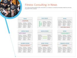 Fitness Consulting In News Office Fitness Ppt Infographics