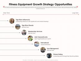 Fitness Equipment Growth Strategy Opportunities Ppt Icons
