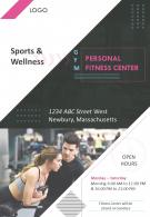 Fitness Gym Four Page Brochure Template