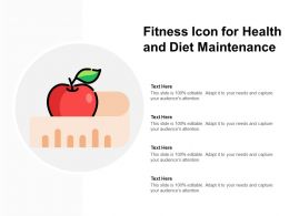 Fitness Icon For Health And Diet Maintenance