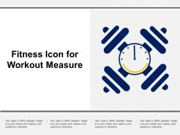 Fitness Icon For Workout Measure