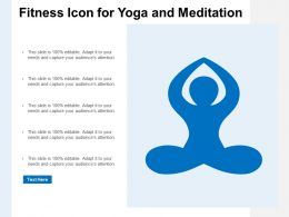 Fitness Icon For Yoga And Meditation