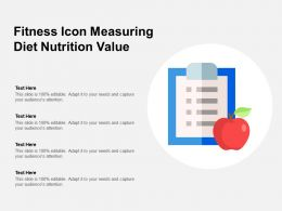 Fitness Icon Measuring Diet Nutrition Value