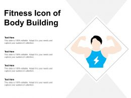 Fitness Icon Of Body Building