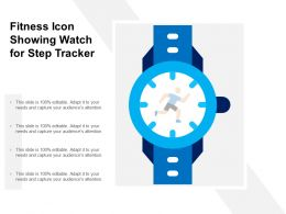 Fitness Icon Showing Watch For Step Tracker
