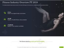 Fitness Industry Overview FY 2018 Ppt Powerpoint Presentation Portfolio Icons