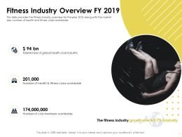 Fitness Industry Overview FY 2019 Size Club Ppt Powerpoint Presentation File Smartart