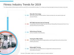 Fitness Industry Trends For 2019 Office Fitness Ppt Graphics