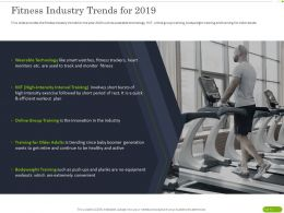 Fitness Industry Trends For 2019 Ppt Powerpoint Presentation Infographics Portrait