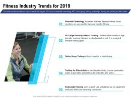 Fitness Industry Trends For 2019 Wearable Technology Ppt Powerpoint Diagrams