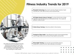 Fitness Industry Trends For 2019 Workout Plan Ppt Powerpoint Presentation Icon Layout