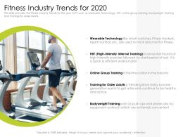 Fitness Industry Trends For 2020 Hiit Powerpoint Presentation Grid