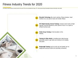 Fitness Industry Trends For 2020 Interval Training Ppt Powerpoint Influencers