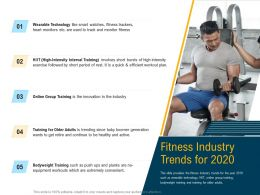 Fitness Industry Trends For 2020 Trending Since Ppt Powerpoint Presentation Gallery Slide