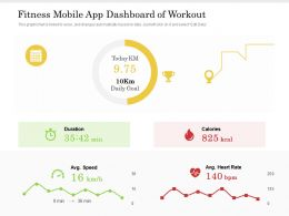 Fitness Mobile App Dashboard Of Workout
