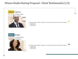 Fitness Studio Startup Proposal Client Testimonials L2226 Ppt Powerpoint Picture