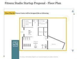 Fitness Studio Startup Proposal Floor Plan Ppt Powerpoint Presentation Example