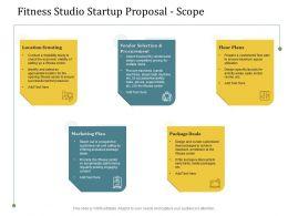Fitness Studio Startup Proposal Scope Ppt Powerpoint Presentation Infographics