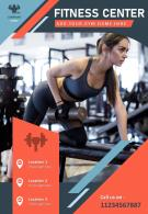Fitness Training Gym Two Page Brochure Template