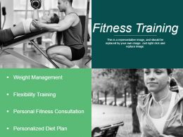 Fitness Training Ppt Background Designs