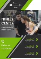 Fitness Training Program Two Page Brochure Template