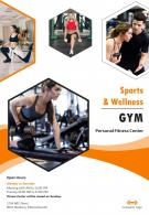 Fitness Wellness Programs Four Page Brochure Template