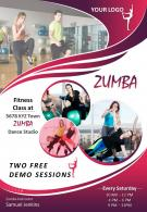 Fitness Zumba Class Two Page Brochure Template